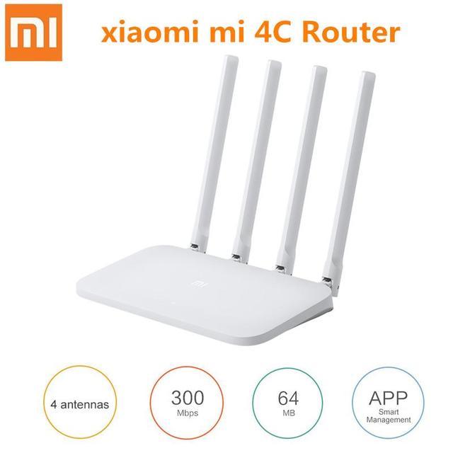 シャオ mi mi 無線 Lan ルータ 4C Roteador アプリ制御 64 RAM 802.11 b/g/n 2.4 グラム 300 150mbps 4 アンテナ無線ルータリピータホーム