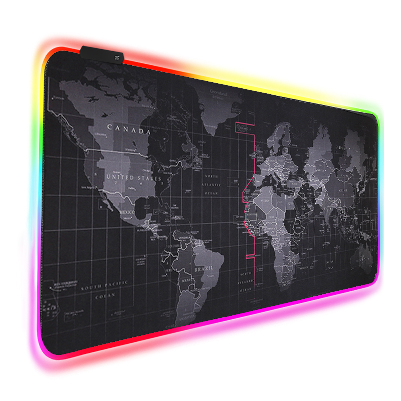 RGB Mouse Pad Large Gaming Mouse Pad Gamer xxl Computer Mousepad Led Big Mouse Mat Keyboard Desk PC Mause Pad With Backlit(China)
