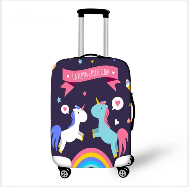 Elastic Luggage Protective Cover Case For Suitcase Protective Cover Unicorn Trolley Case Trunk 18-32 Inch Travel Accessories