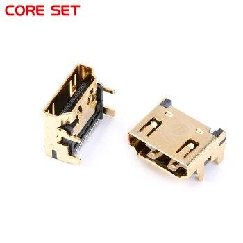 10 шт. и гнездового разъема HDMI/разъем 19PIN 19 P под прямым углом smt smd 90 градусов позолоченный hd 19 PIN