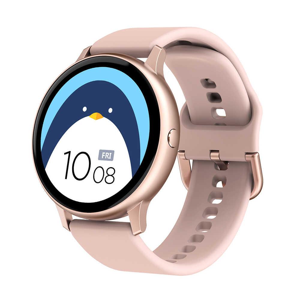 Full Touch Smart Horloge Vrouwen Waterdichte Armband Ecg Hartslagmeter Slaap Monitoring Smartwatch Mannen Aansluiten Ios Android