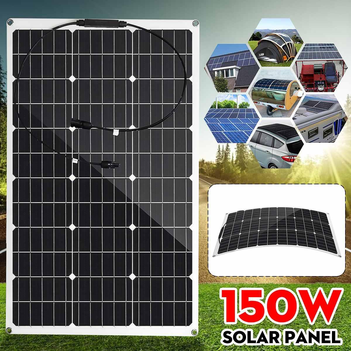 150W panneau solaire Semi-flexible 18V cellule solaire monocristallin bricolage Module câble connecteur extérieur chargeur de batterie étanche