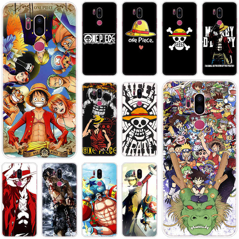 One piece anime Silikon Fall Für LG G5 G6 Mini G7 G8 G8S V20 V30 V40 V50 ThinQ Q6 Q7 q8 Q9 Q60 W10 W30 Aristo X Power 2 3 Abdeckung