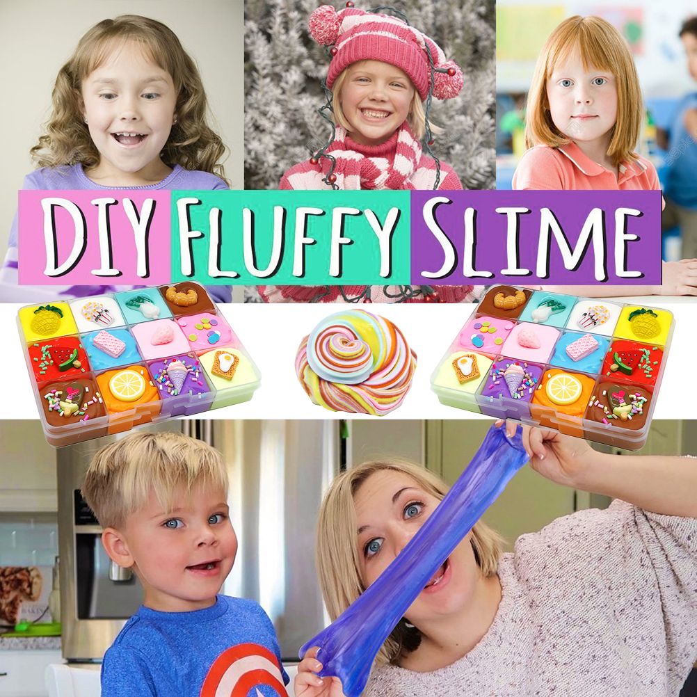 Toy Slime Gift Nontoxic-Sensory Adult-Stress Reliever Kids Mud DIY Fruit Great Fluffy img2