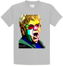 Personalized T Shirts  Elton John Color Design Art O-Neck Short Sleeve Christmas Shirt For Men