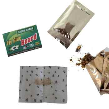 Disposable Strong Flies Traps Bugs Sticky Board Catching Aphid Insects Killer Pest Control Whitefly Thrip Leafminer Glue Sticker - DISCOUNT ITEM  30% OFF Home & Garden