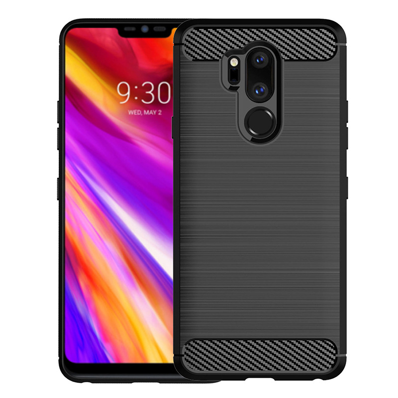 2019 New Prouct For LG G7 Thinq Case Mini Case Silicone Plush Matte Rubber Soft Protective Cover