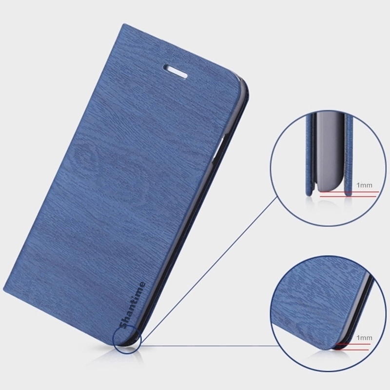 Wood grain Leather Phone Case For Xiaomi Black Shark 3 Pro Flip Case For Black Shark 3 Pro Wallet Case Soft Silicone Back Cover