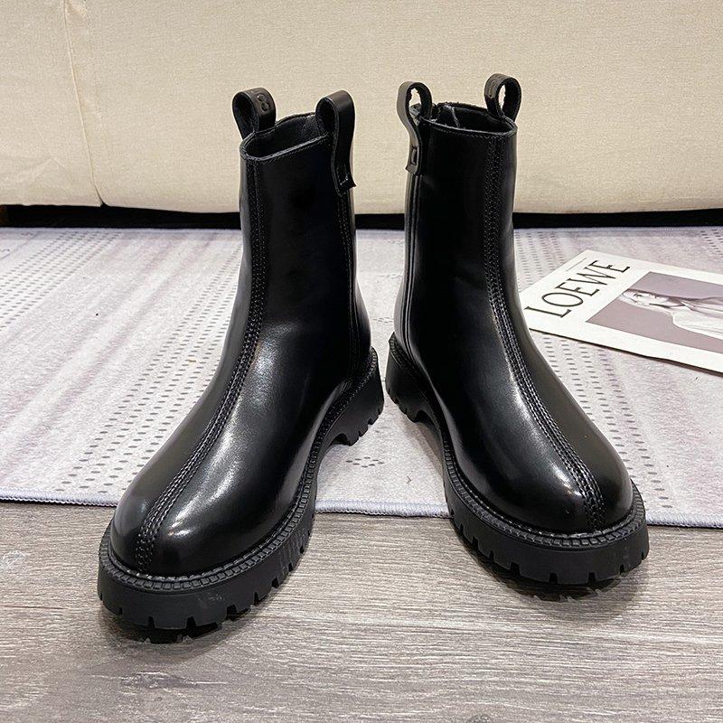 Vintage Brown Ankle Boots Women Fashion Autumn Platform Gothic Shoes Black Short Boots 2020 Winter Women Warm Plush Combat Boots