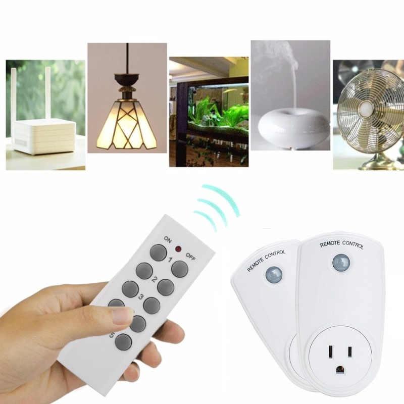 US wtyczka 1/2/3/4/5 sztuk pilot zdalnego sterowania Outlet bezprzewodowy gniazdo przełącznika energii- oszczędność kontroli gniazd dla urządzeń gospodarstwa domowego