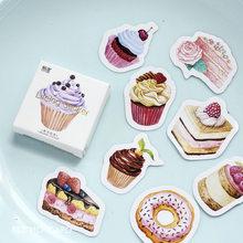 Autocollants flocons gâteau Dessert créatifs, étiquette Scrapbooking, amour romantique Vintage, décoration pour journal intime, Diy bricolage, 45 pièces/boîte