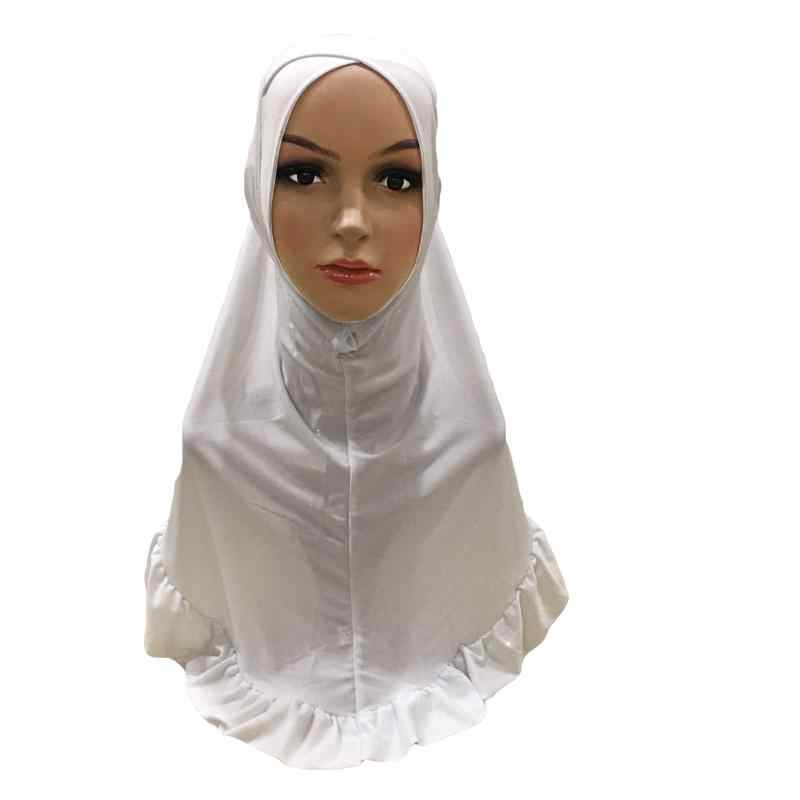 Мусульманский женский хиджаб Блестящий головной платок цельный Амира Исламская повязка-баф обертывание тюрбан арабский платок полное покрытие шапочка для молитвы Мода