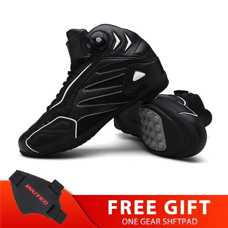 Черные мотоциклетные ботинки; Нескользящие ботинки для верховой езды; Обувь для мотокросса; Дышащие мотоботы; Туристические туфли для мужч...