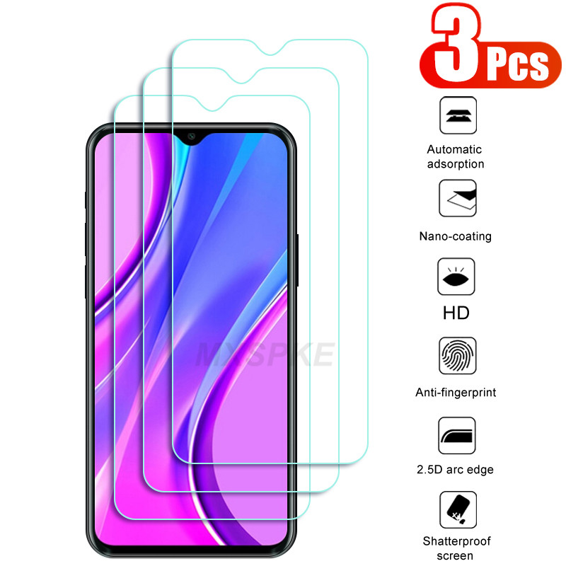 3Pcs Screen Protective Glass on the For Redmi 9 9A 9C 8 8A 6 6A For Xiaomi Redmi Note 10 6 8 9 8T 9S Pro Max Tempered Glass Film