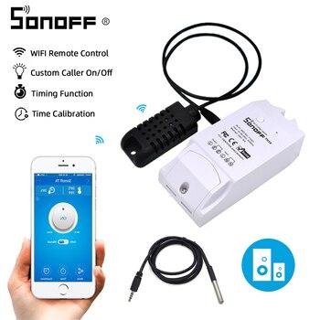 Itead Sonoff TH16/TH10 interrupteur Wifi intelligent interrupteur Wifi capteur de température minuterie d'humidité Wifi domotique intelligente pour Alexa