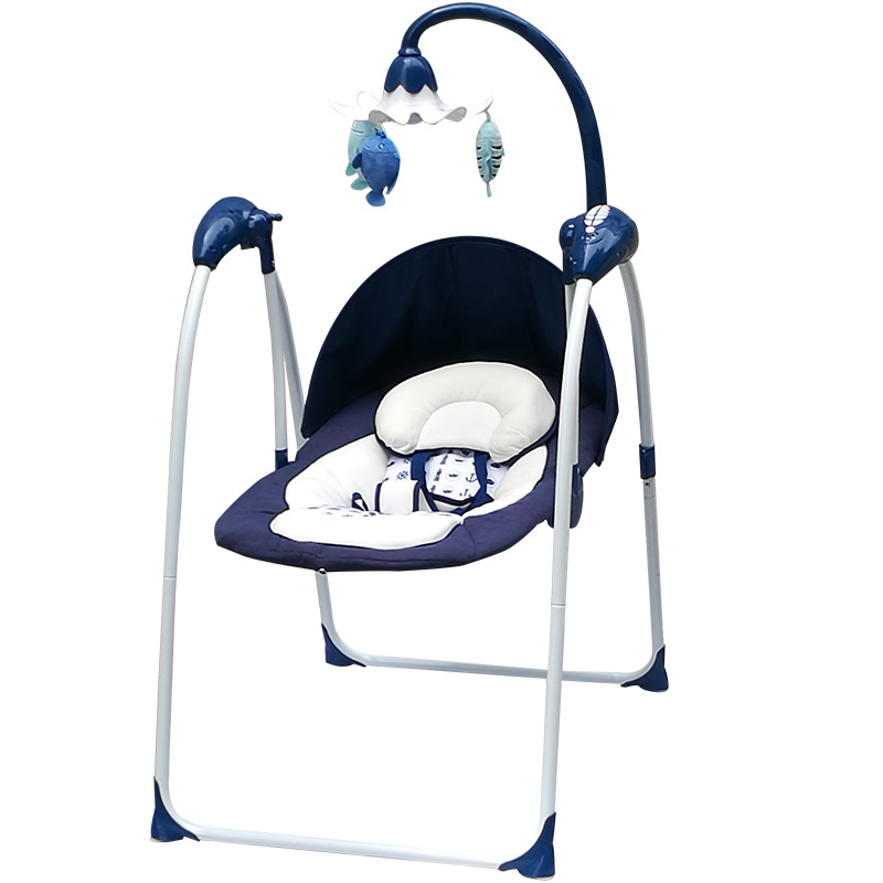 Children's Prints Baby Rocking Chair Reclining Electric Small  Bed