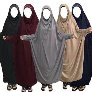 Image 1 - Muslimischen Burka Abaya Frauen Hijab Gebet Kleid Islamischen Overhead Jilbab Burka Niqab Lange Khimar Kaftan Robe Arab Lose Nahen Osten