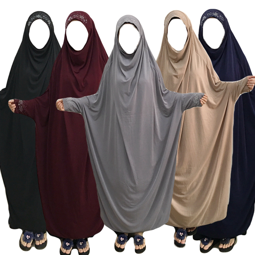 Ramadan Muslim Burqa Abaya Women Hijab Prayer Dress Islam Overhead Burka Niqab Long Khimar Kaftan Robe Arab Middle East Clothing