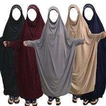 イスラム教徒ブルカの女性ヒジャーブ祈りドレスイスラムオーバーヘッド jilbab ブルカ niqab ロング khimar カフタンローブアラブ緩い中東