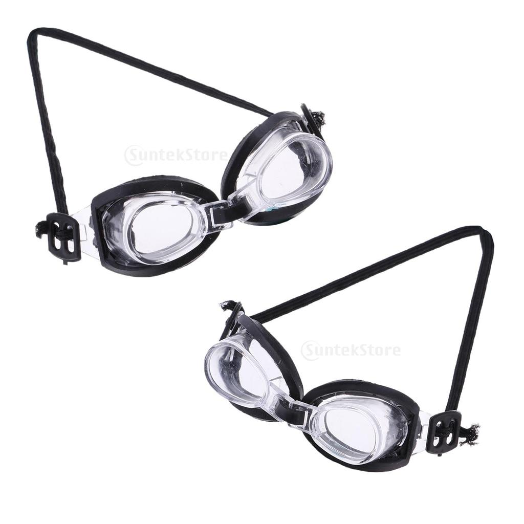 2 stücke Sport Zubehör Schwimmen Brille für 1/6 Blythe Puppe Sommer Spielen Ausrüstung