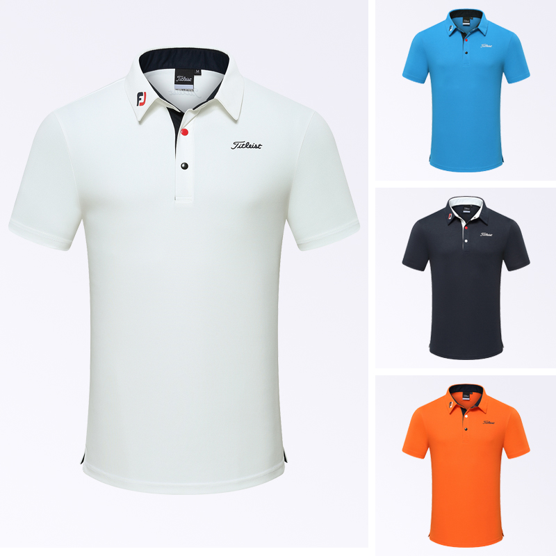 2021 Golf clothing men's short sleeve T-shirt outdoor sports quick dry Breathable polo shirt wear