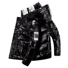 Down-Jacket Loose Autumn Men's Winter 90%White-Duck-Down Warm Male Korean Casual Streetwear