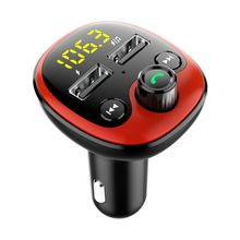 FM Transmitter Modulator Bluetooth Handsfree Car Kit MP3 Audio Player Dual USB Car Charger Durable(China)
