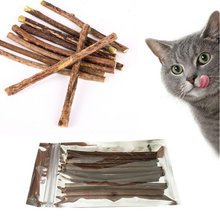 Pure Natural Catnip Pet Cat Toy Molar Toothpaste Branch Cleaning Teeth Silvervine Cat Snacks Sticks Pet Supplies(China)
