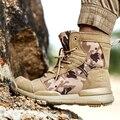 Женские и мужские тактические военные ботинки для пустыни; Удобные походные треккинговые ботинки для улицы; Армейские ботильоны; Обувь для ...