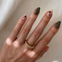 4 teil/satz Klassische Hochzeit Ring für Frauen Gold Farbe Twist Seil Ringe Weibliche Chunky Dicke Geometrische Kreis Minimalist Ring 2020 neue