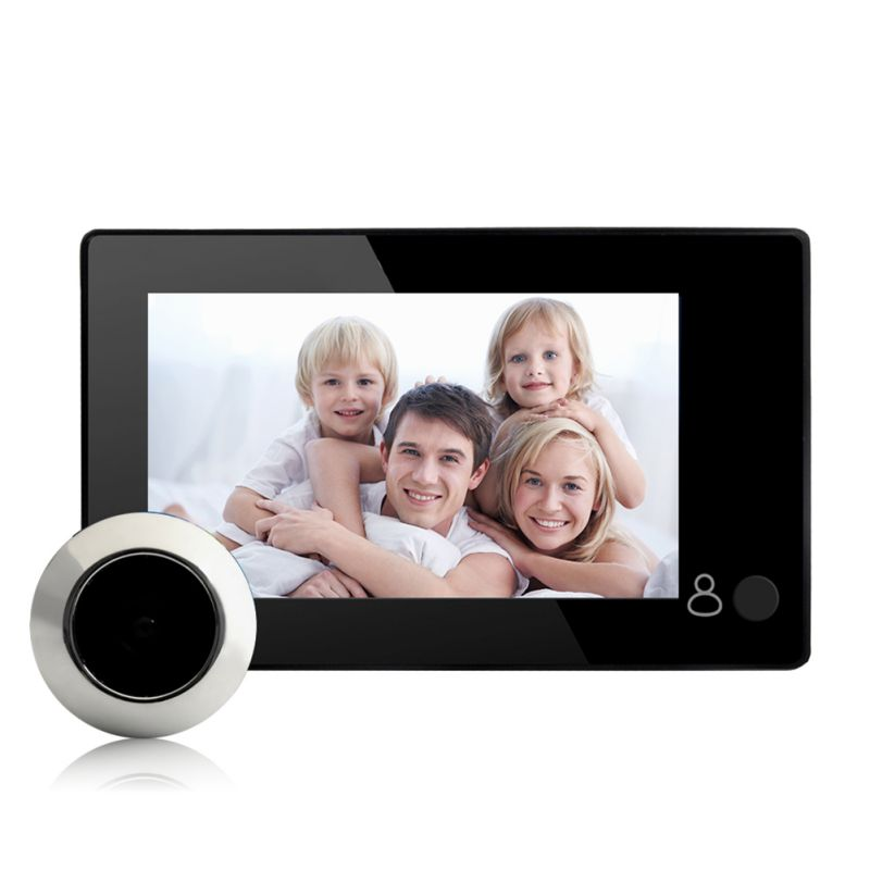 New Digital Door Viewer 4.3inch Large Screen Monitor 145 Degree Home Security Wireless Peephole Camera