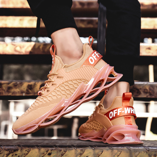 Nice nouveaux hommes baskets semelles creuses hommes chaussures décontractées hommes adultes baskets en plein air formation Jogging chaussures Chaussure Homme Zapatillas
