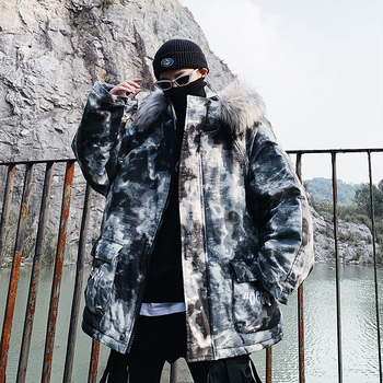 2020 Men Winter Oversize Hip Hop Camouflage Hooded Parkas Mens Thick Warm Mountain Windbreaker Collar Jackets Tops Male Clothes
