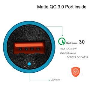 Image 2 - QC 3.0 USB البسيطة شاحن سيارة شحن سريع لل فون X سامسونج S8 هواوي P30 جميع سبائك الألومنيوم الهاتف المحمول سيارة  مهايئ شاحن