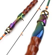 Novo colorido ul carbono haste de fiação 1.68m 3-7g ultraleve haste de fundição ultra leve isca vara de pesca dicas sólidas pólo vara de pesca