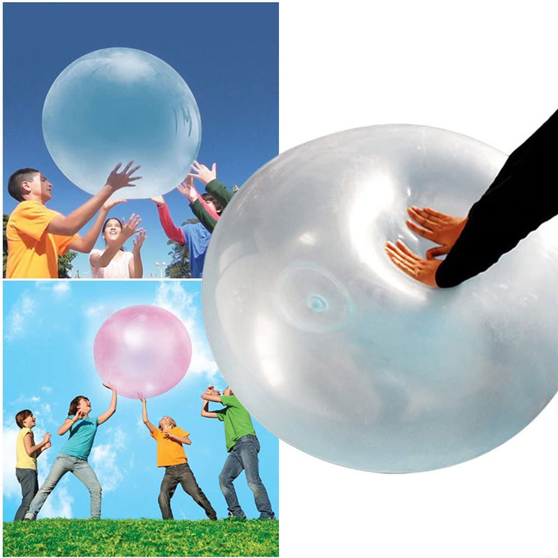 Children Outdoor Toys Baby Bubble Ball Beach Ball Inflatable Bath Balloon Toys Air Water Filled Bubble Ball Blow Up Balloon Toy