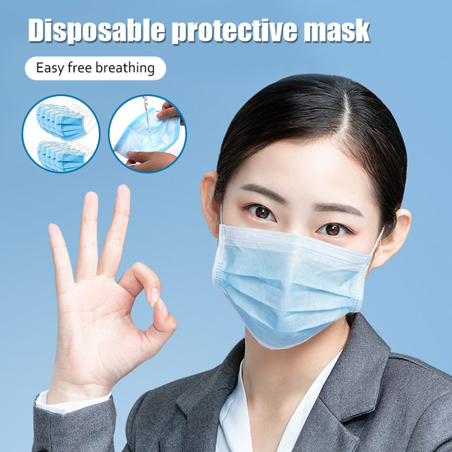 10pcs Dustproof Disposable Mouth Masks Earloop Face Mouth Nose Cover Masks Protection Anti Dust Flu Pollution 4