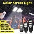 Smuxi 25000LM 120 W/240 W/360 W Солнечный уличный светильник 117/234/351 светодиодный уличный светильник ing безопасности лампа движения Сенсор пульт дистанци...