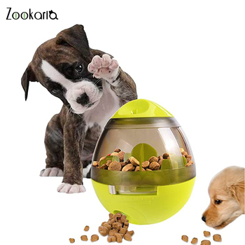 Interactive Tumbler Pet Feeder Treat Ball Dog Toy for Pet Increases IQ Interactive Food Dispensing Ball Dog Cat Slow Feed Bowl new dog snack catapult launcher dog cat treat launcher snack food feeder catapult pet interactive training toys