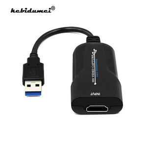 kebidumei USB 3.0 HDMI Video Capture Device HD USB Video Capture Card Grabber Recorder for PS4 DVD Camera Live Streaming