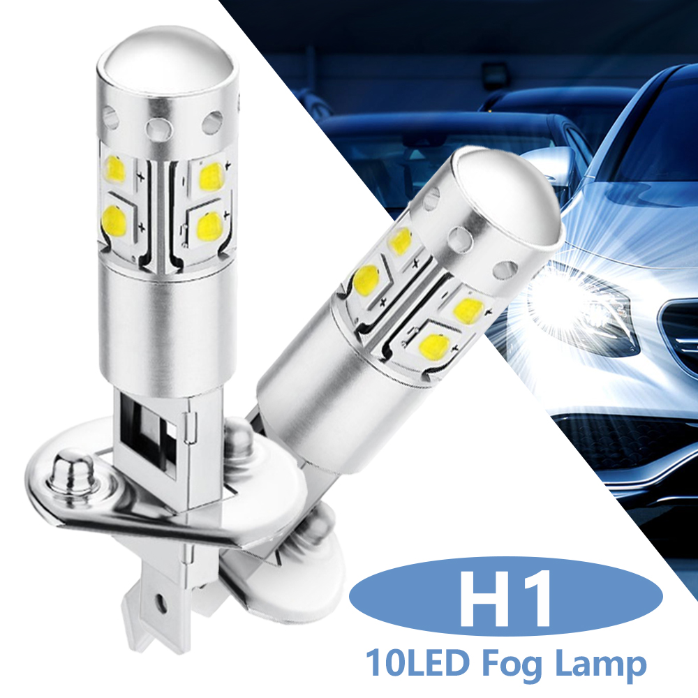 2PCS H1 Car CREE Fog Light Car Headlight Bulbs 12V 50W 5500-6500K Automatic LED Car Signal Light Turn Signal Car Accessories