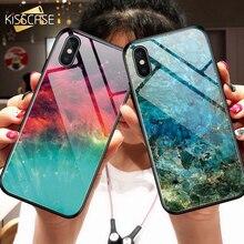 KISSCASE coloré peint étui pour iphone 11 Pro Max 11 Pro 11 housse Coque paillettes étui pour iphone 6 6S 7 8 XS MAX XS X XR étuis