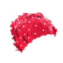Шапочка для плавания для взрослых девочек, милая креативная Водонепроницаемая Защитная мягкая дышащая шапка с объемным цветком для волос, легкие аксессуары для плавания