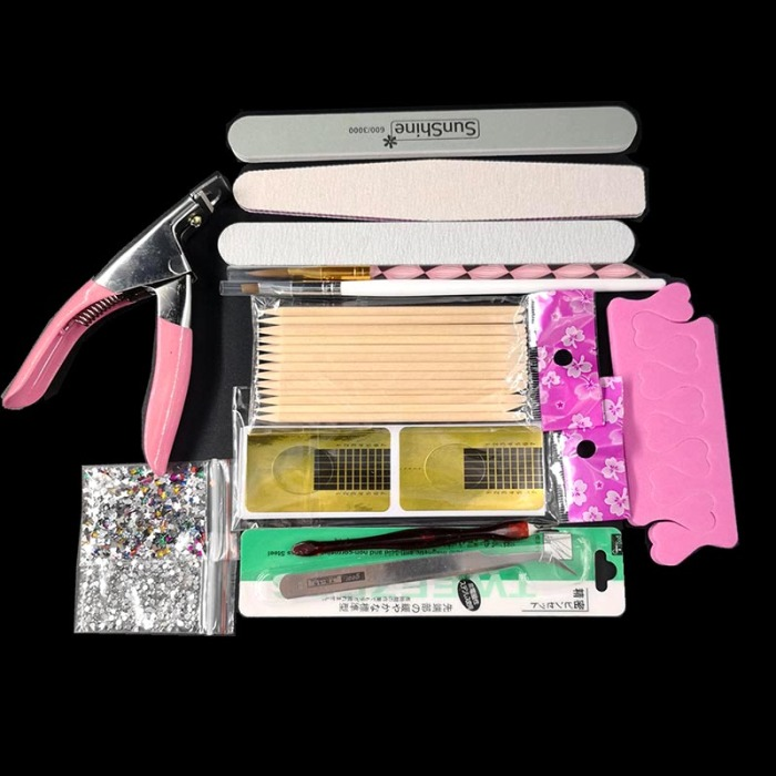 Newly Nail Art Tool Kit Manicure Acrylic Powder Buffer Sandpaper Brush Finger Separator Nails Clipper Set CLA88