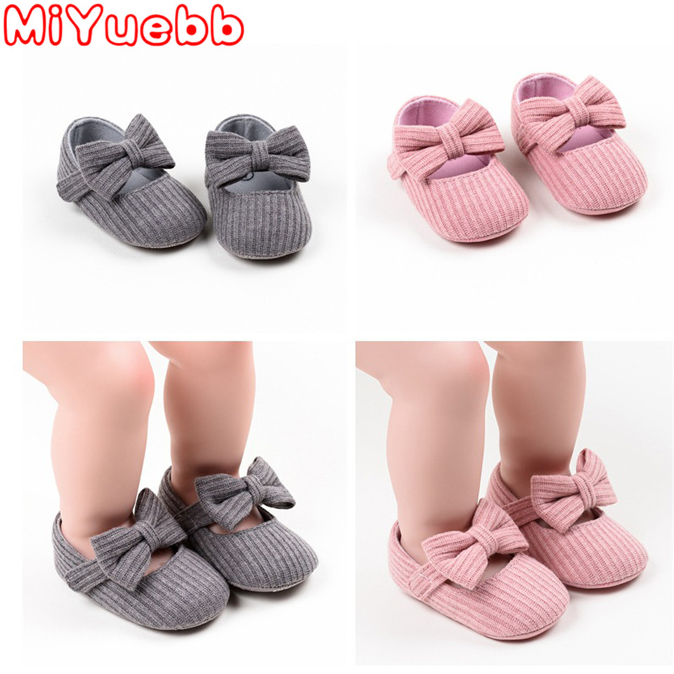 Newborn Baby Girl Children Footwear 2020 New One Year Old Sneakers Toddler Bow Shoes Infant Little Girls Princess Christmas Gift