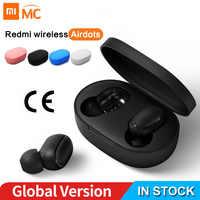 Xiaomi Redmi AirDots écouteur Bluetooth casque 5.0 TWS vrai sans fil stéréo SBC mignon Mini lumière écouteurs boîte de charge automatique