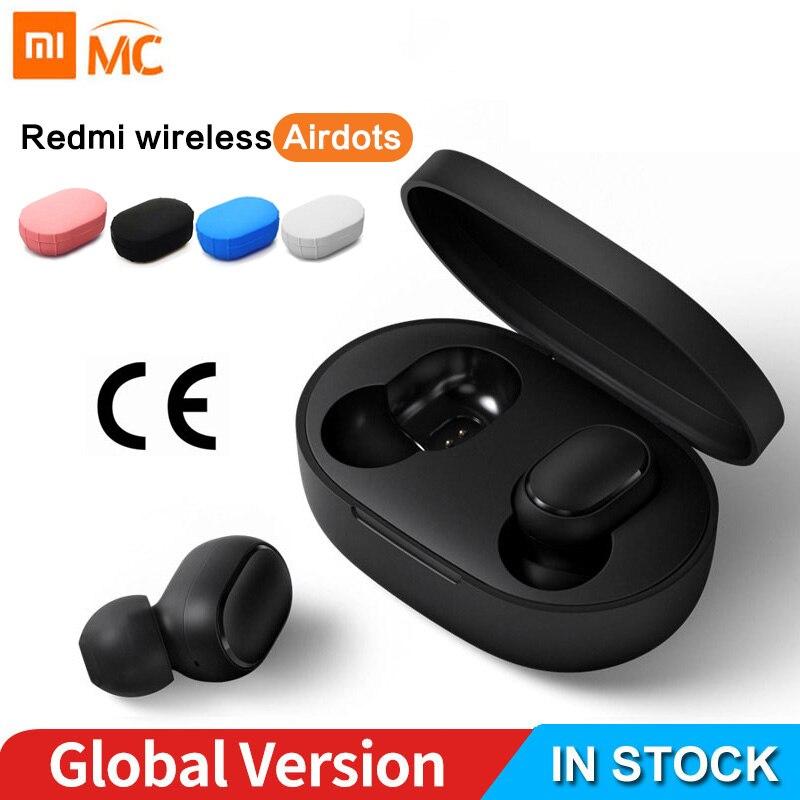 Xiaomi Redmi AirDots Earphone Bluetooth Headset 5.0 TWS True Wireless Stereo SBC Cute Mini Light Earphones Auto Charging box