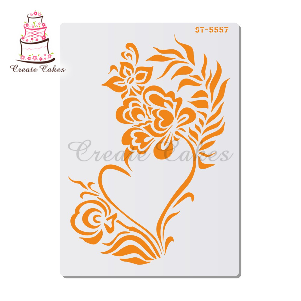 Flower Stencil For Walls Painting Scrapbooking Stamp Album Decorative Embossing DIY Craft Paper Card Flower Template