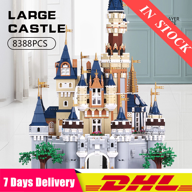 2020 Mould King <font><b>13132</b></font> 8388Pcs Princess Cinderella Dream Castle Creator UCS Set Building Blocks Bricks 71040 16008 Kids Toys image