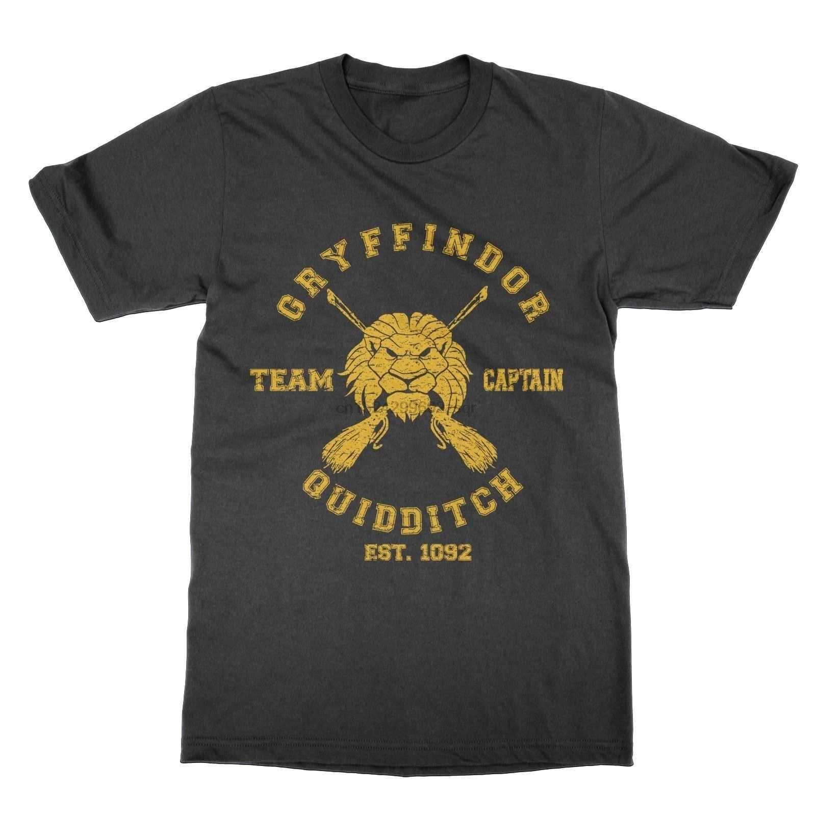 Nhà Gryffindor Đội Quidditch Thuyền Trưởng Nam Áo Thun Nữ Tay Ngắn (1)